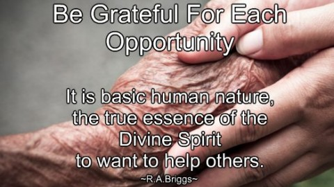~ With Humble Gratitude ~